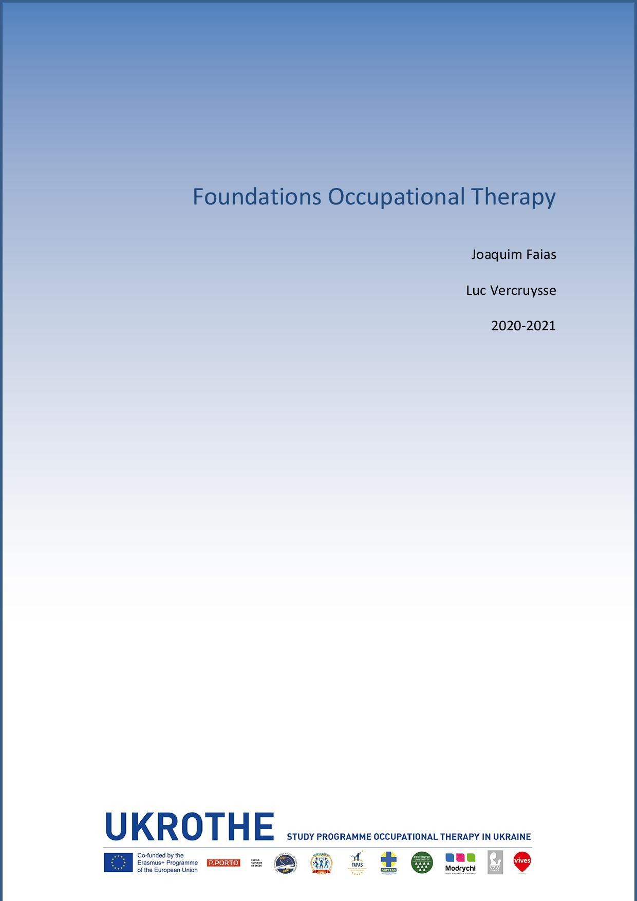 Course Foundations of Occupational Therapy